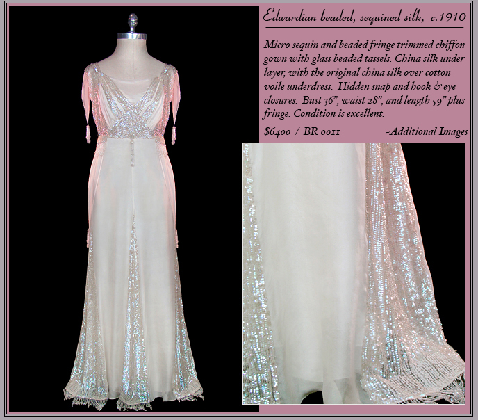 Beaded Edwardian gown