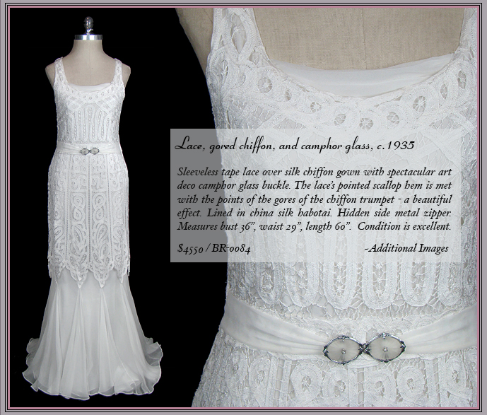Antique 1930s lace wedding dress